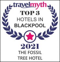 Top 5 adult only hotels in Blackpool. Reward for Fossil Tree Hotel.